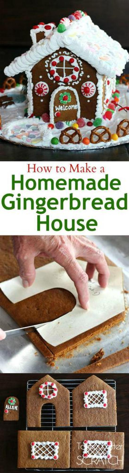 Recipe and photo tutorial for making a homemade gingerbread house!