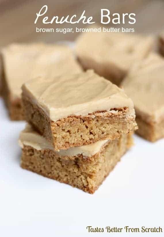 Penuche Bars recipe from TastesBetterFromScratch.com