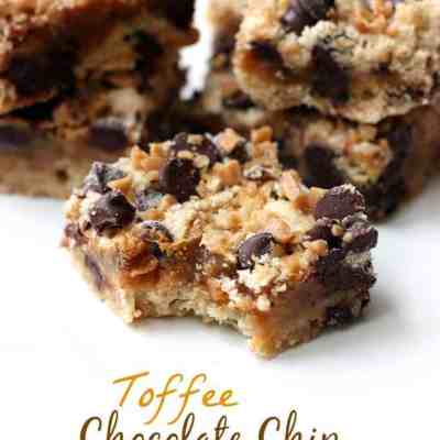 Toffee Chocolate Chip Bars