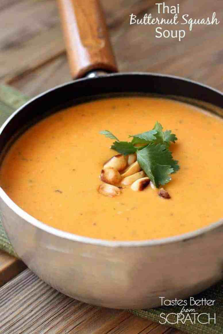 Thai Butternut Squash Soup on TastesBetterFromScratch.com
