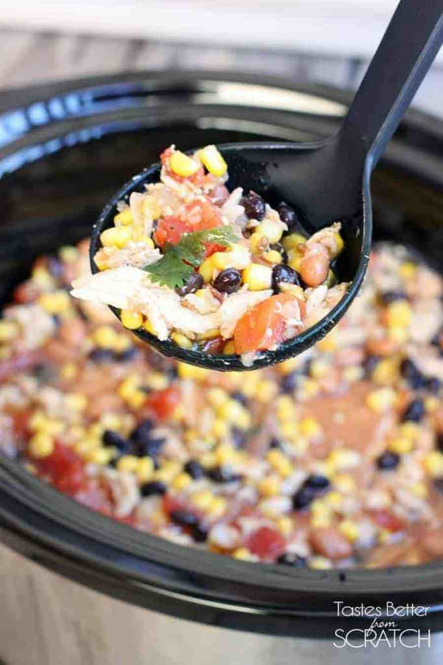 Slow Cooker Chicken Tortilla Soup on TastesBetterFromScratch.com