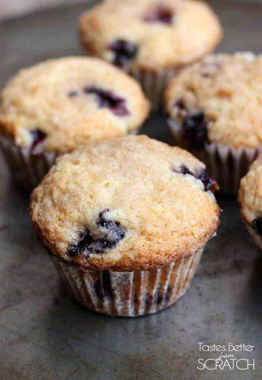 The BEST Blueberry Muffins! Recipe on TastesBetterFromScratch.com