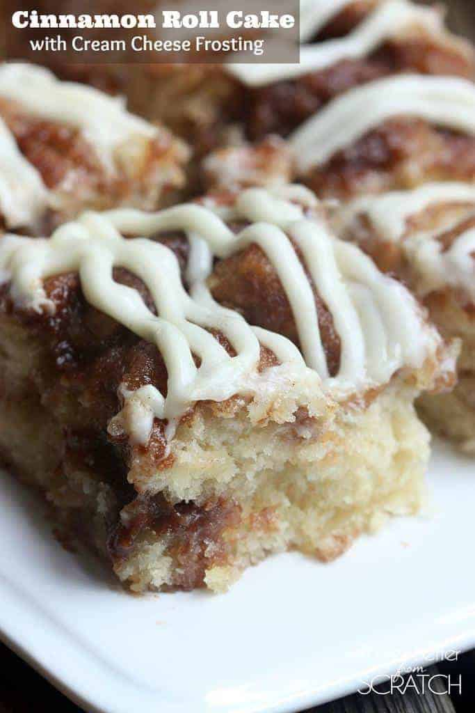 Cinnamon Roll Cake With Cream Cheese Frosting Tastes