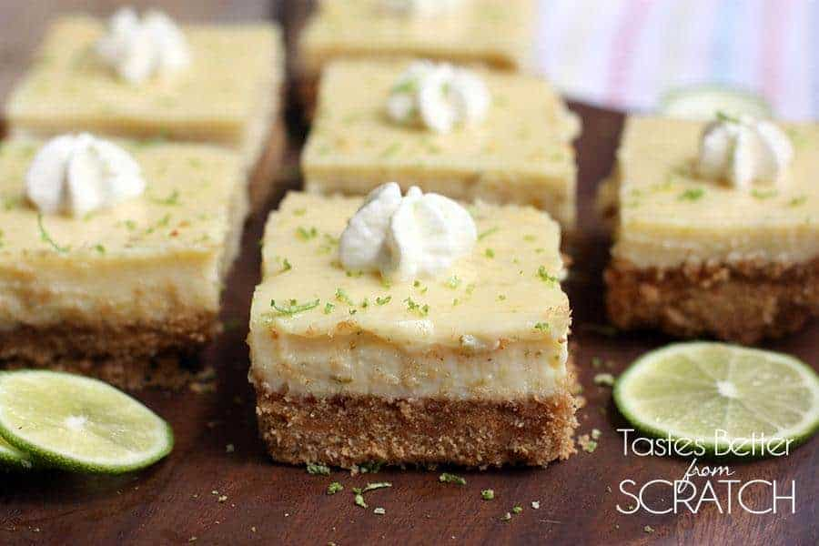 Key Lime Pie Bars from TastesBetterFromScratch.com