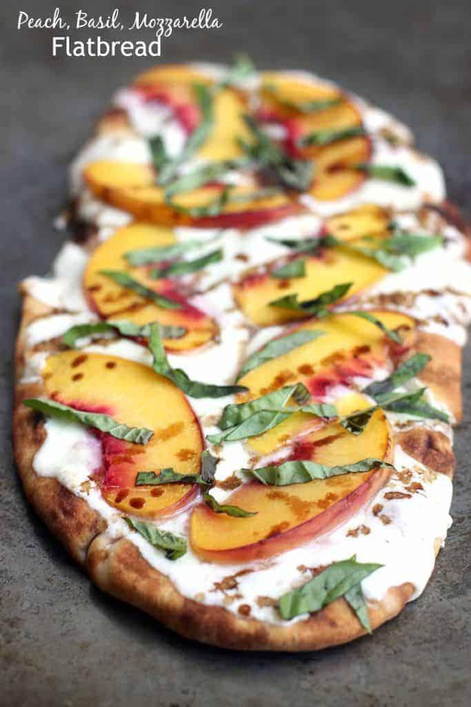 Peach, Basil, Mozzarella Flatbread | - Tastes Better From ...