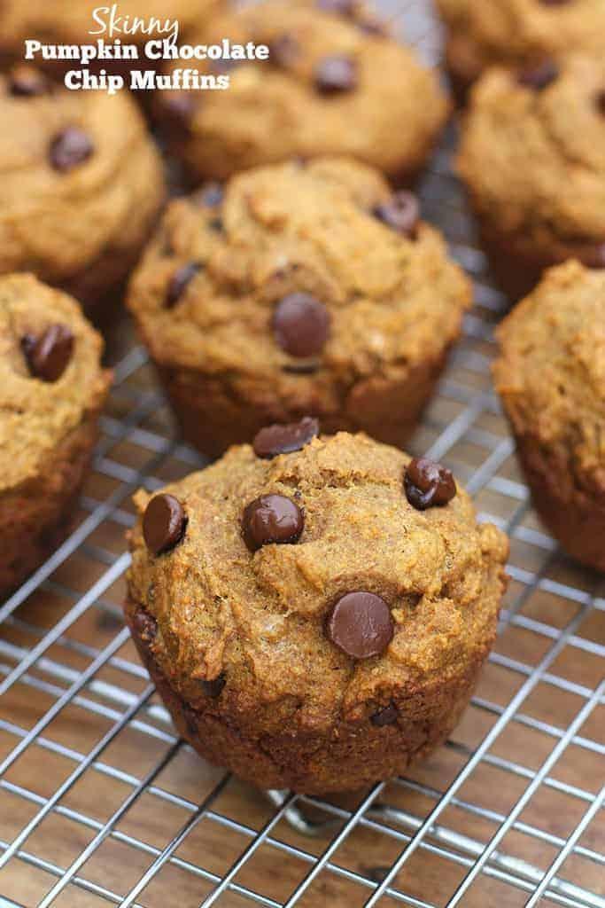 Skinny Pumpkin Chocolate Chip Muffins Tastes Better