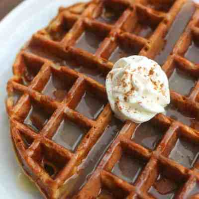 Gingerbread Waffles with Vanilla Cream Syrup
