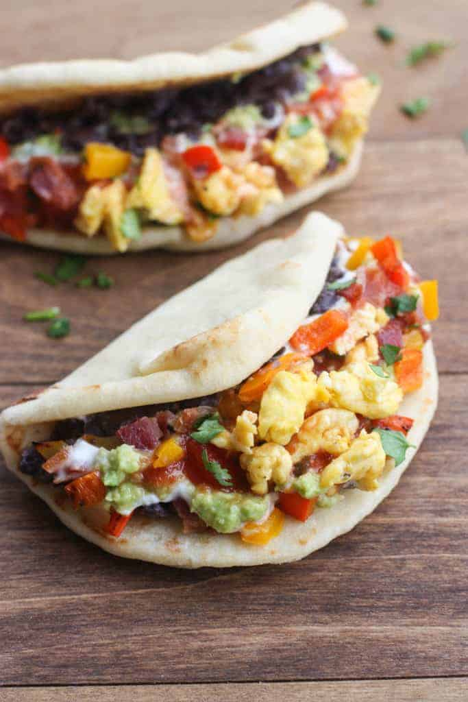Seven Layer Breakfast Tacos| Tastes Better From Scratch