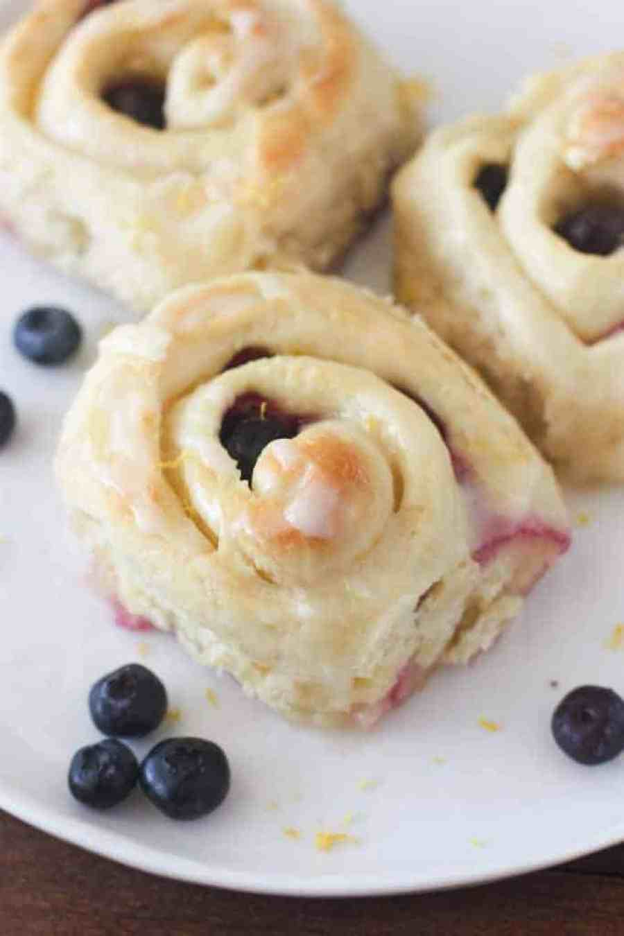 Lemon Blueberry Rolls - super soft and fluffy and SO EASY to make from scratch! | Tastes Better From Scratch