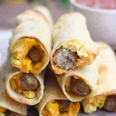 Egg and Sausage Breakfast Taquitos