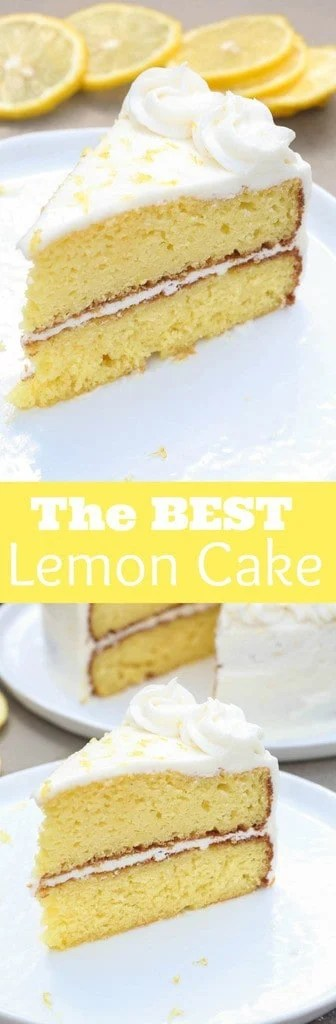 THE BEST homemade Lemon Cake with light lemon buttercream frosting! Everyone RAVES about this recipe! - Tastes Better From Scratch