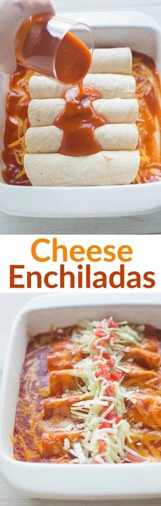 The BEST homemade Cheese Enchiladas! Our favorite authentic cheese enchiladas are easy, fast and insanely delicious!   Tastes Better From Scratch