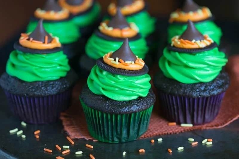 Witch Hat Cupcakes   Tastes Better From Scratch