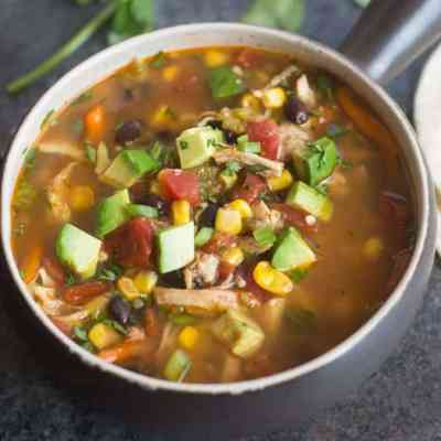 Slow Cooker Chipotle Chicken Fajita Soup