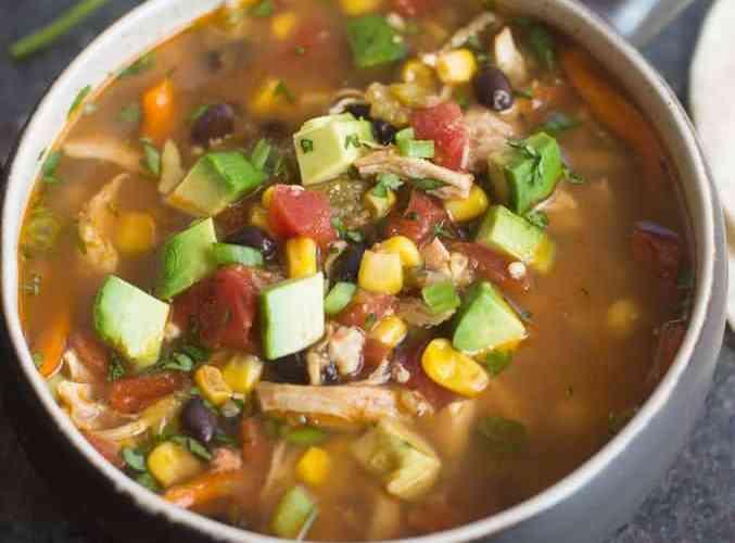Slow Cooker Chipotle Chicken Fajita Soup