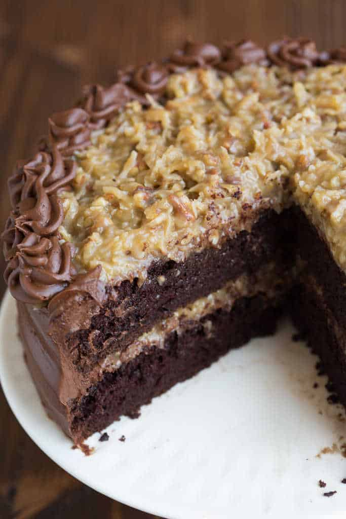 Easy Inside Out German Chocolate Cake