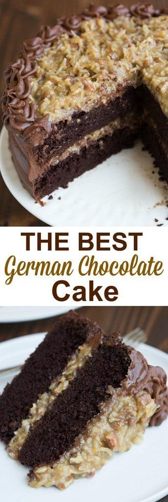 Homemade German Chocolate Cake