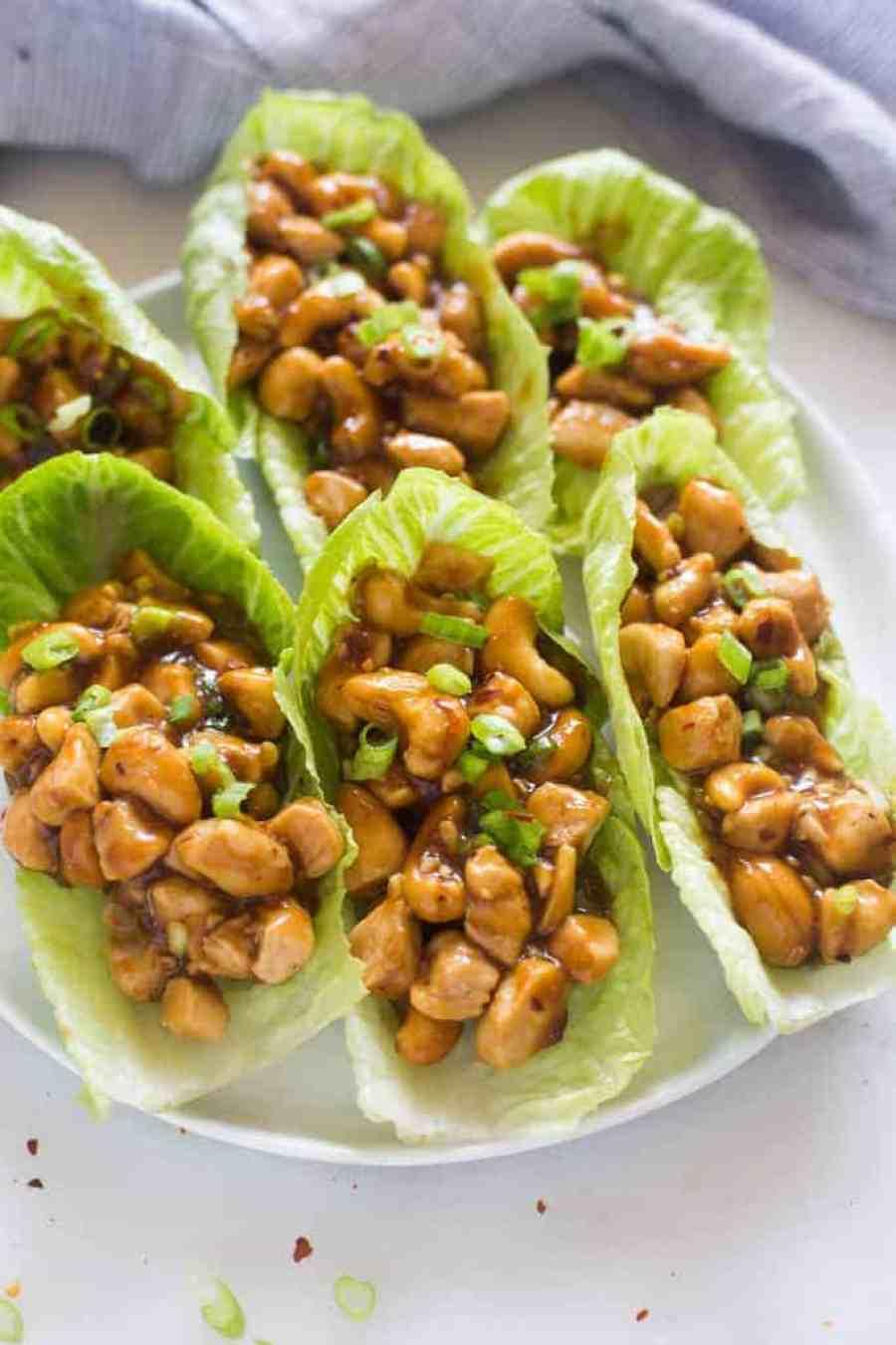 Cashew Chicken Lettuce Wraps | tastesbetterfromscratch.com
