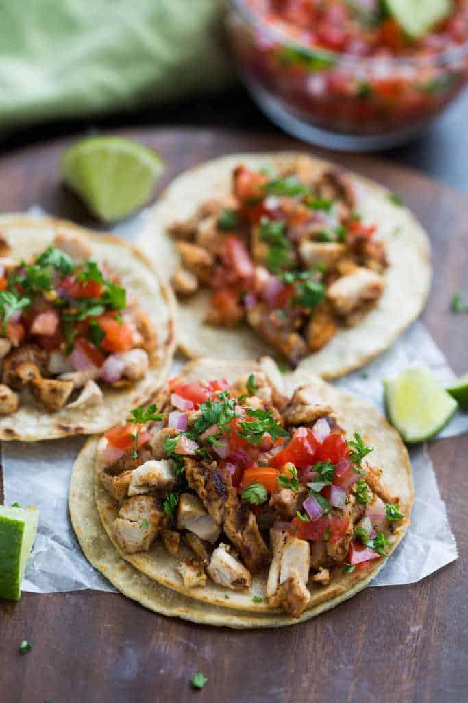 Grilled Chicken Street Tacos | tastesbetterfromscratch.com