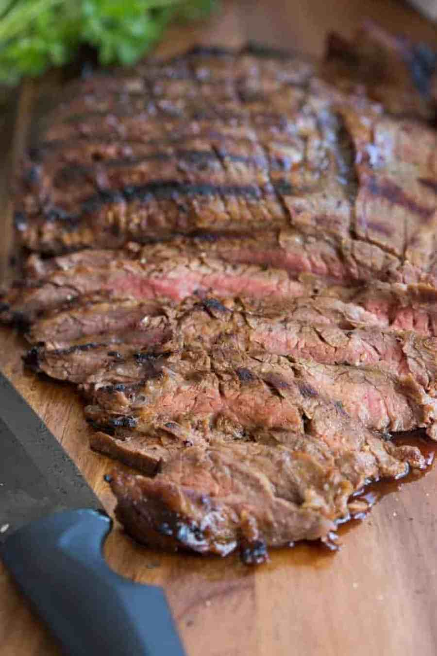 My favorite steak recipe of all time! Grilled marinated flank steak that's super simple and easy and always a huge hit.