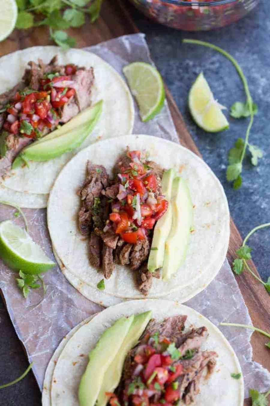 Carne Asada Tacos   tastesbetterfromscratch.com