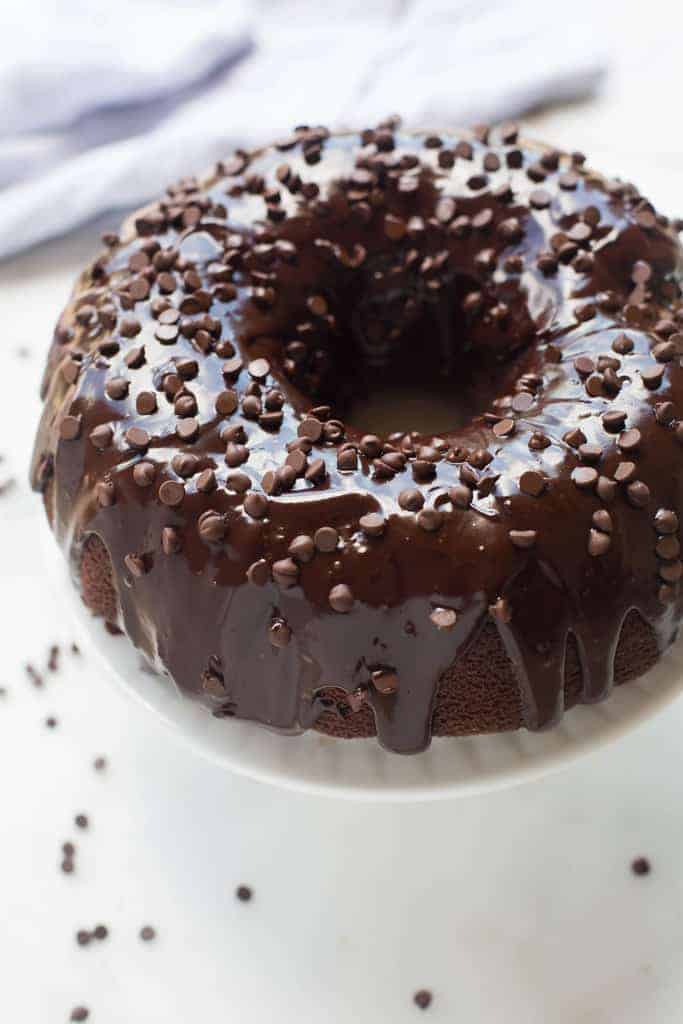 The perfect recipe for a moist, tender and slightly dense homemade chocolate bundt cake. | tastesbetterfromscratch.com