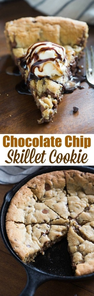 Chocolate Chip Skillet Cookie | - Tastes Better From Scratch