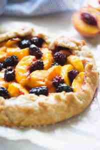 Peach Blackberry Tart | tastesbetterfromscratch.com