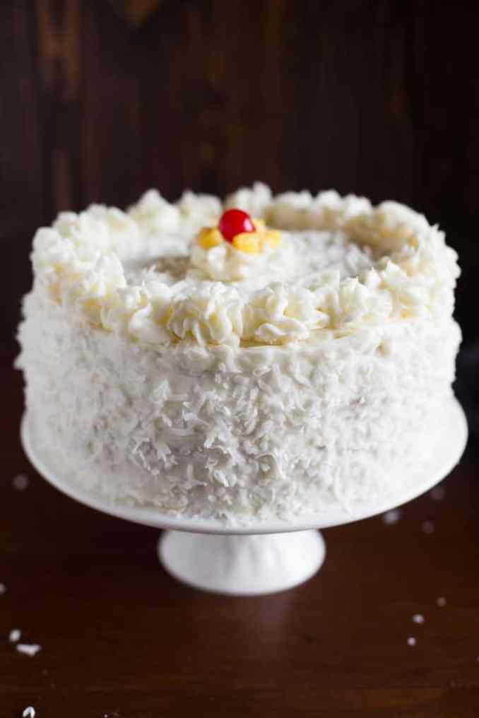 Coconut Cake with Pineapple Filling - Tastes Better from