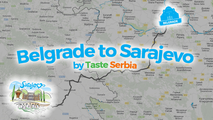 [INFOGRAPHIC] Belgrade to Sarajevo Food Tour