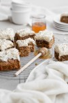 zucchini cake squares with cream cheese frosting