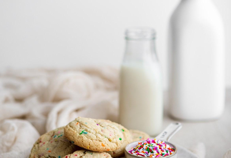 sprinkle cookies on a plate