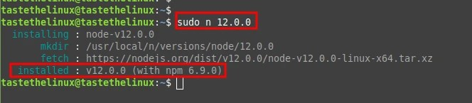 Update Node.js Version in Ubuntu Linux
