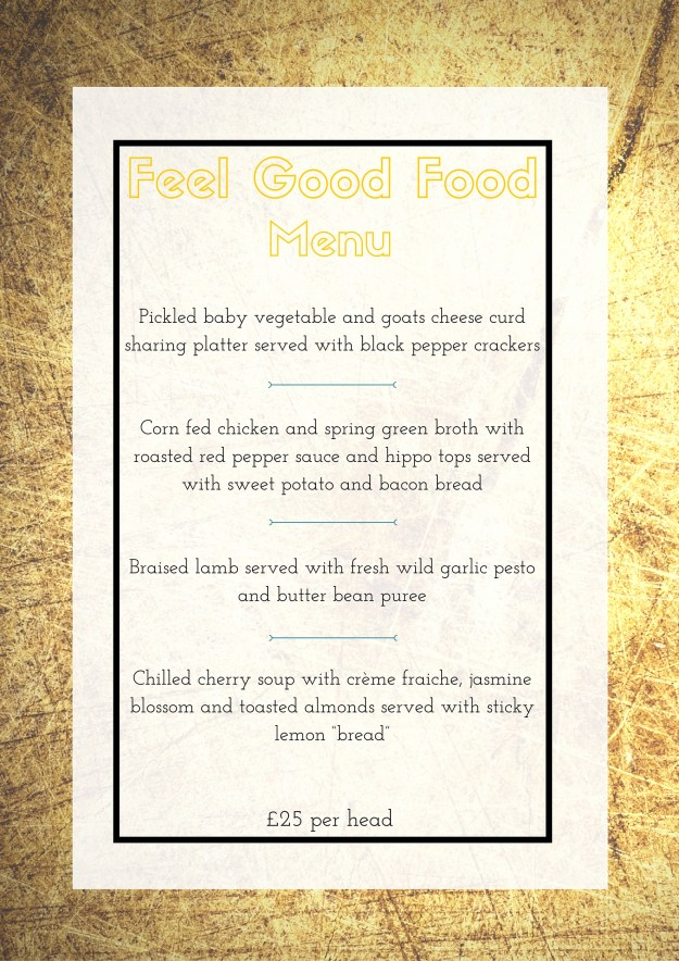 Feel Good Food April Menu
