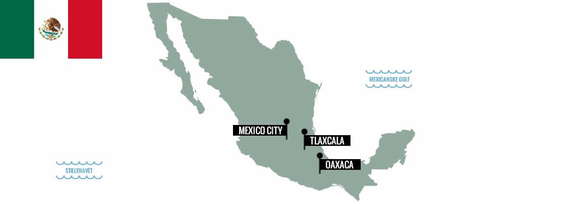 Mexico. Kokkeskoler, markeder og madvandringer.