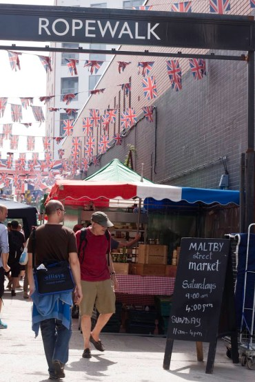 Maltby Street Market i London