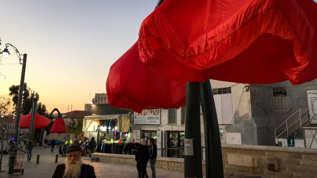 Bloom - kunstinstallation i Jerusalem (C) Per Sommer