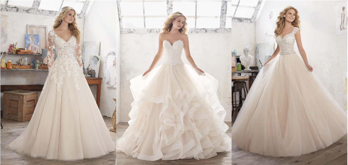 Elegant Bridal Gowns Inspired By Belle In Beauty And The