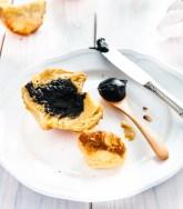 Mini Brioche with Sweet Black Sesame Paste
