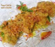 Yogurt fish curry (doi mach)