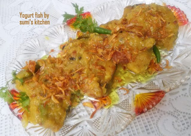 Yogurt fish curry (doi mach)