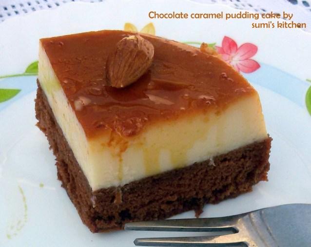 chocolate caramel pudding cake