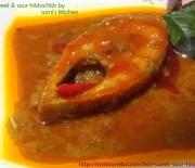 Hot, sweet & sour hilsha/ilish