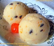 Orange chocolate chips ice cream