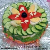 Chicken sandwich cake