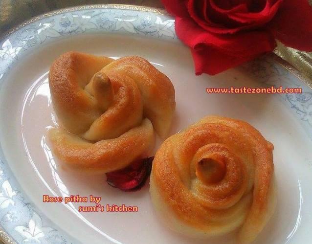 Semolina rose pitha/pastry