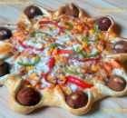 Chicken kebab pizza