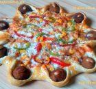 Chicken kebab pizza