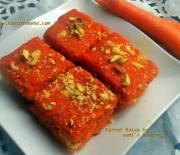 carrot barfi/halwa