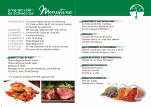 Programa actividades Monesterio Capital de la Gastronomia Extremeña 2019